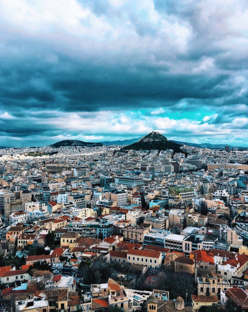 Aerial view, Athens